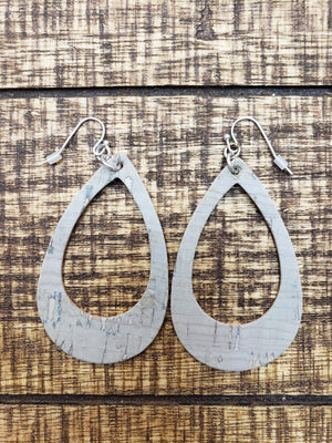 Teardrop Cutout Earrings