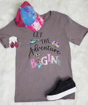 """Let The Adventure Begin"" Graphic Tee"