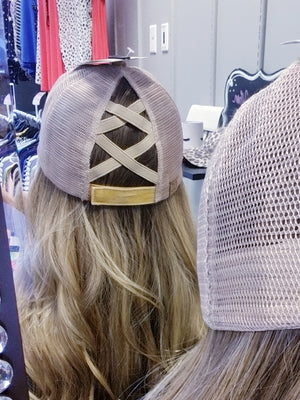 CC Crossed Back Hat - Mustard