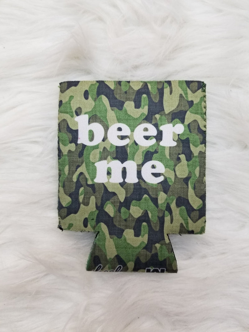 Beer Me Camo Can Cooler