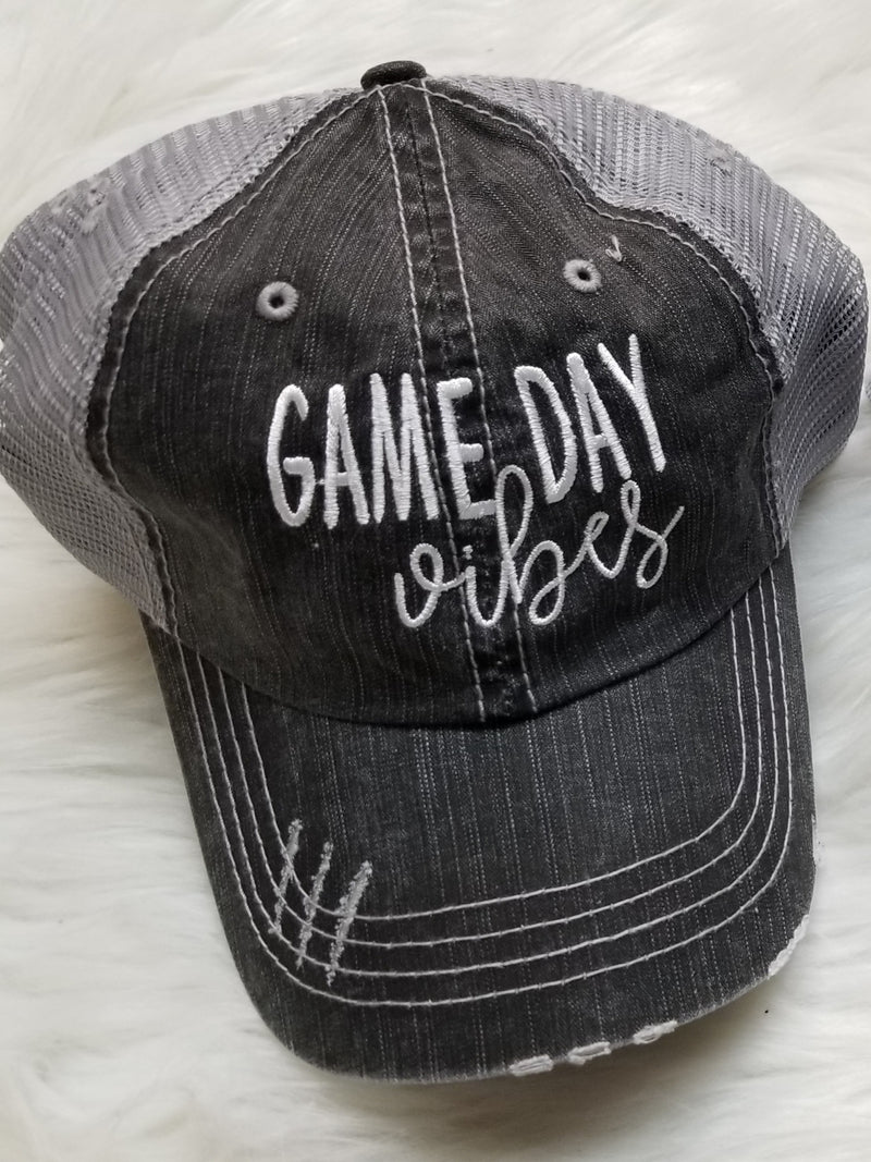 Game Day Vibes Embroidered Mesh Back Hat