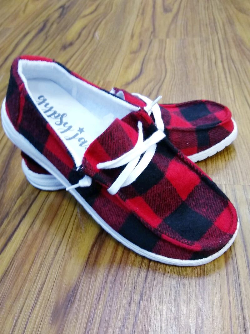 Very G Plaid Heather Sneaker - Red
