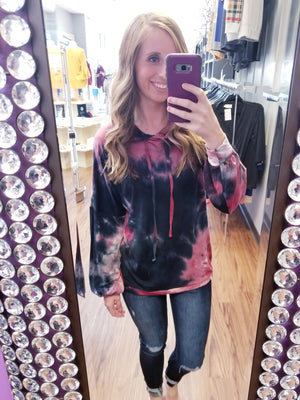 Tie Dye Comfy Hooded Top