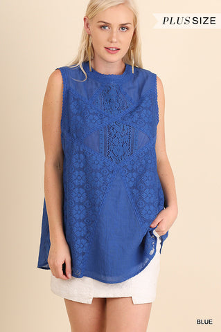 Lace Detail Sleeveless Top