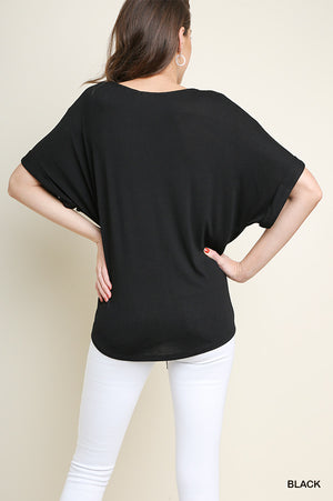 Be Beautiful and Bold Basic Tie Front Top