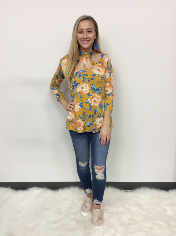 It's Five O'Clock Somewhere Floral Top