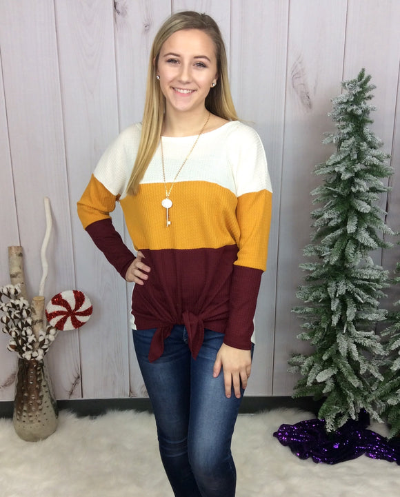 Block Out Game Day Top - Burgundy
