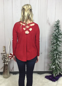Holiday Magic Criss Cross Back Sweater