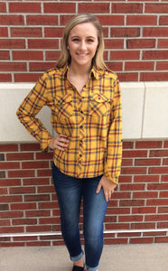 Harvest Sunset Plaid Top
