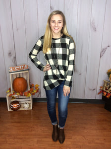 Octoberfest Plaid Top