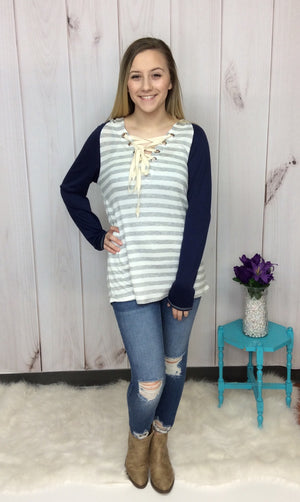 Softly Spoken Striped Hoodie - FINAL SALE CLEARANCE
