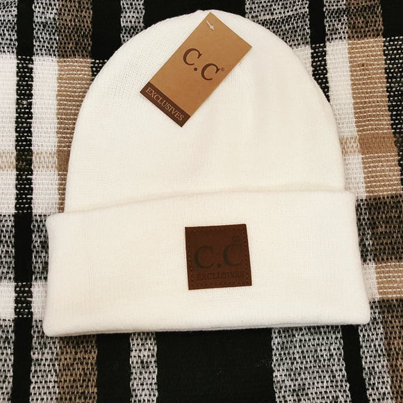 CC Classic Basic Solid Color Beanie