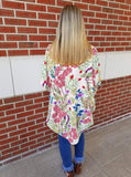 Weekend Getaway Floral Open Front Cocoon Kimono
