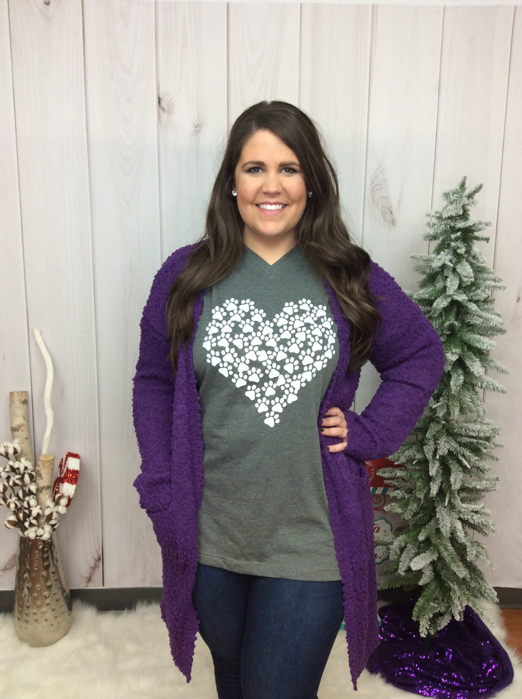 Paw Print On My Heart Graphic Tee - FINAL SALE CLEARANCE