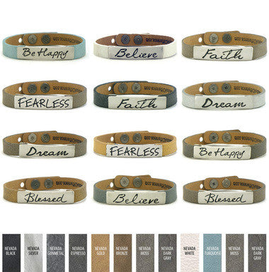Good Work(s) Inspirational Word Single Bracelets