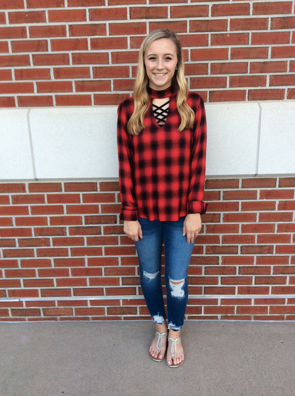 Love Me Some Plaid - Red