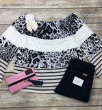 Color Me Leopard Off Shoulder Top