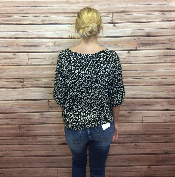 Short Sleeve Printed Woven Top