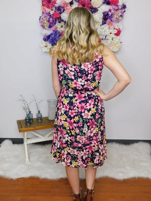 Mum's The Word Floral Woven Midi Dress