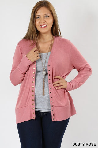 Snap Front Cardigans (1X-3X)
