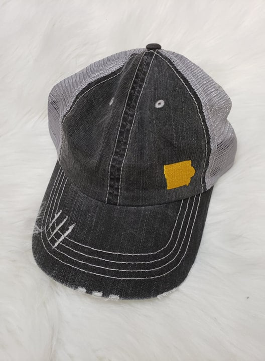 State of Iowa Embroidered Trucker Hat