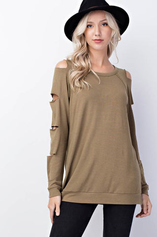 Long Sleeve Top With Cutout Detail