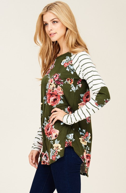 Dreaming of Stripes and Floral Top