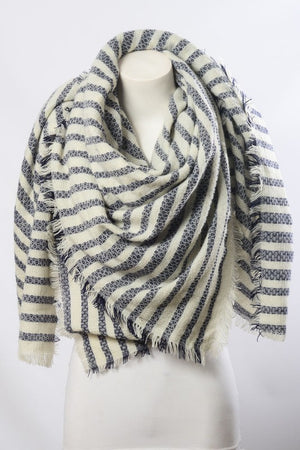 Soft Stripes Blanket Scarf