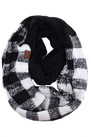 CC Buffalo Plaid Infinity Scarf