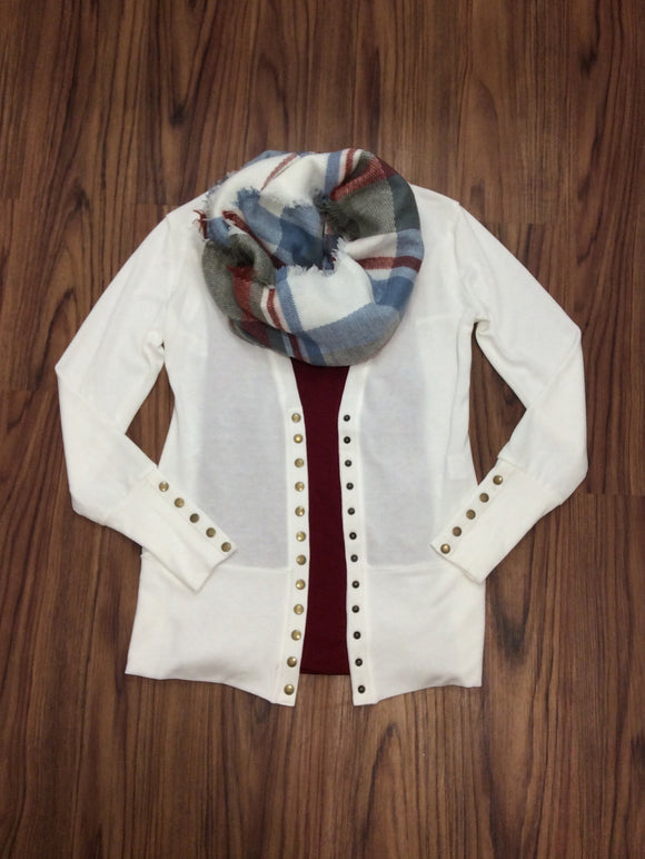 Gotta Have It Snap Front Cardigan - Ivory
