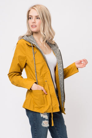 Don't Look Back Layered Hooded Utility Jacket