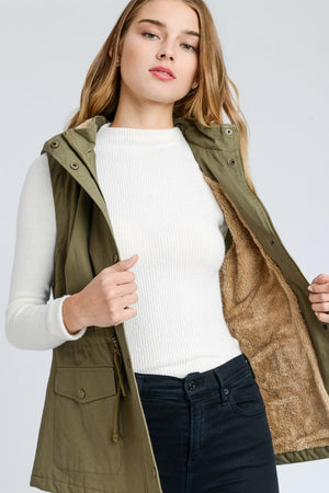 Sounds Of Fall Faux Fur Lined Vest