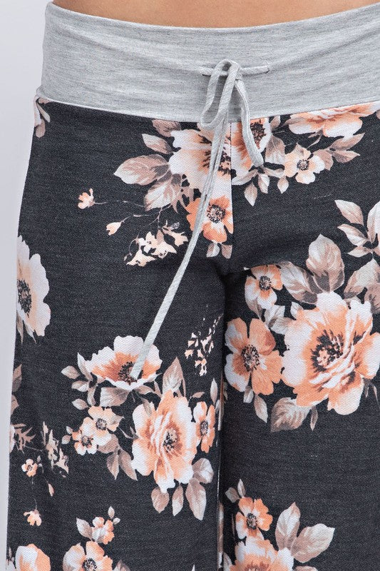 Comfort Is Key Floral Lounge Pants