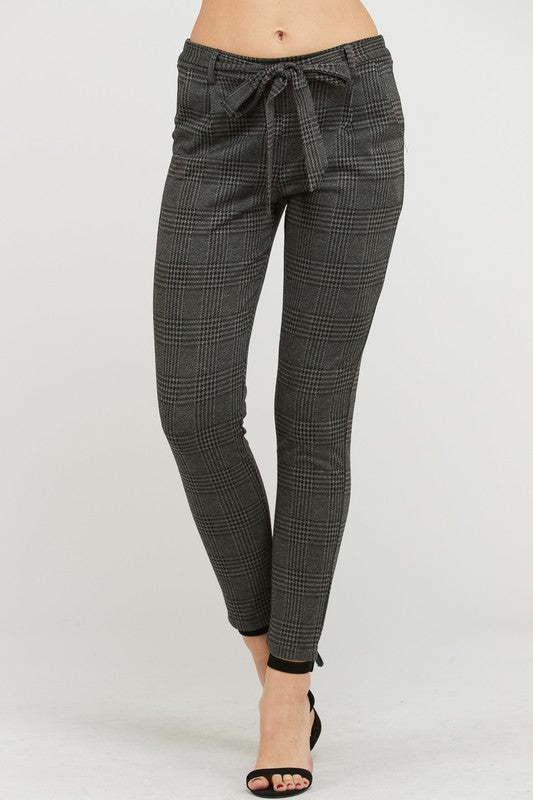 Business Casual Plaid Pants