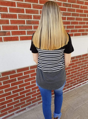 It's About Time Color Block Stripe Top