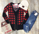 Gotta Have It Snap Front Cardigan - Buffalo Plaid