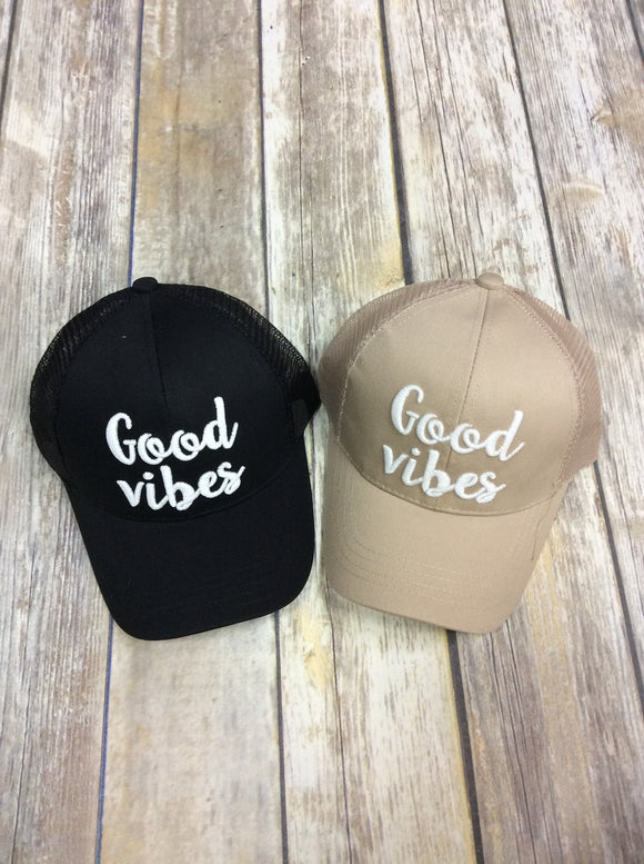 Good Vibes Color Changing Ponytail Hat