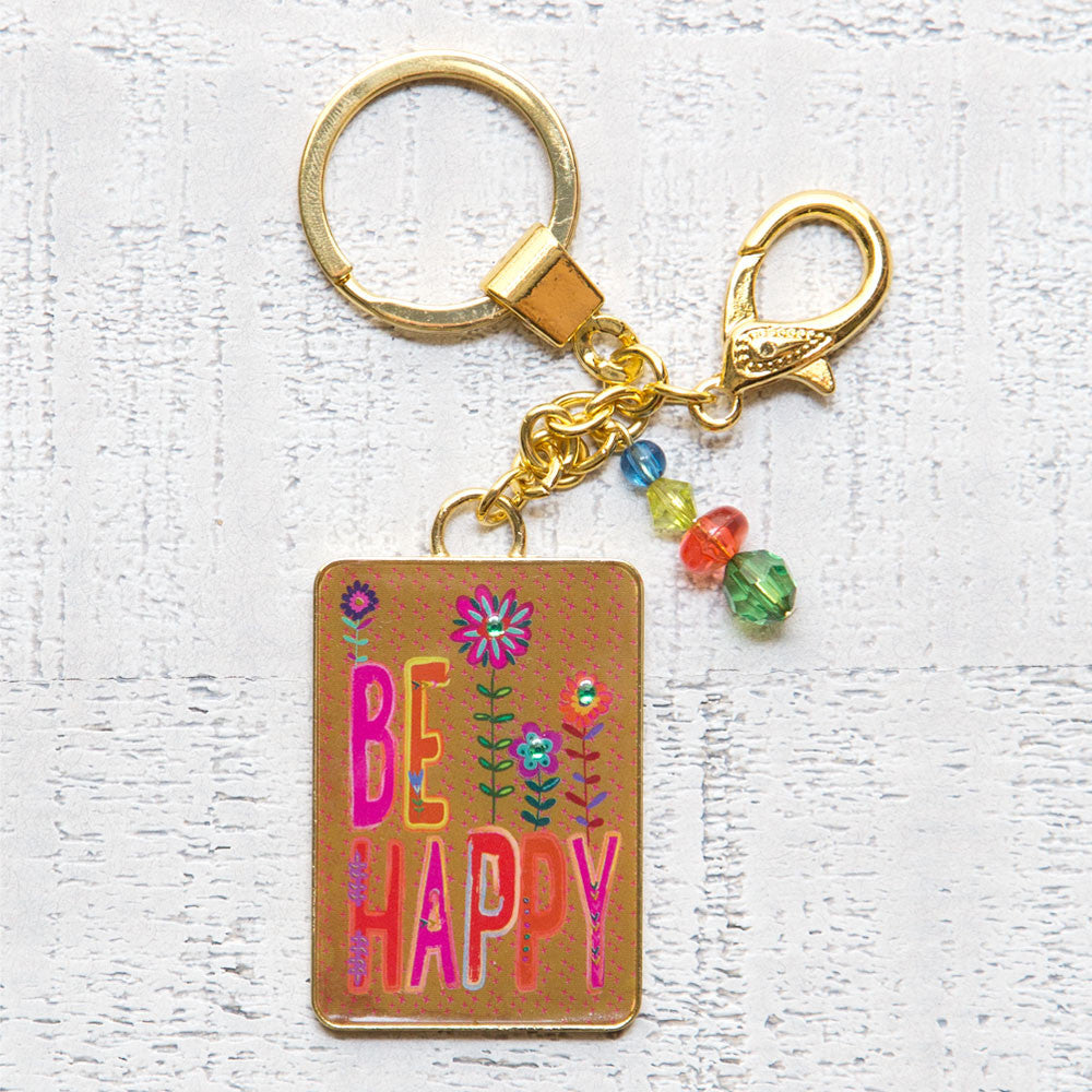 Natural Life Be Happy Key Chain