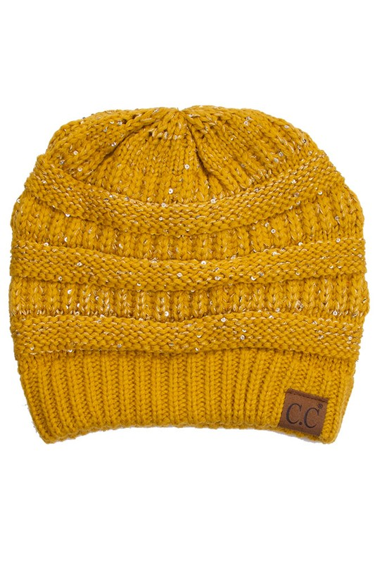 CC Beanie with Sequin Detail