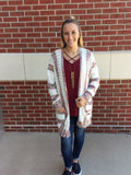 Cozy by the Campfire Open Front Cardigan Sweater