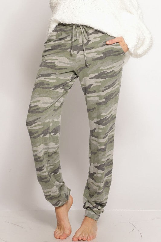 Comfy In Camo Lounge Pants With Pockets