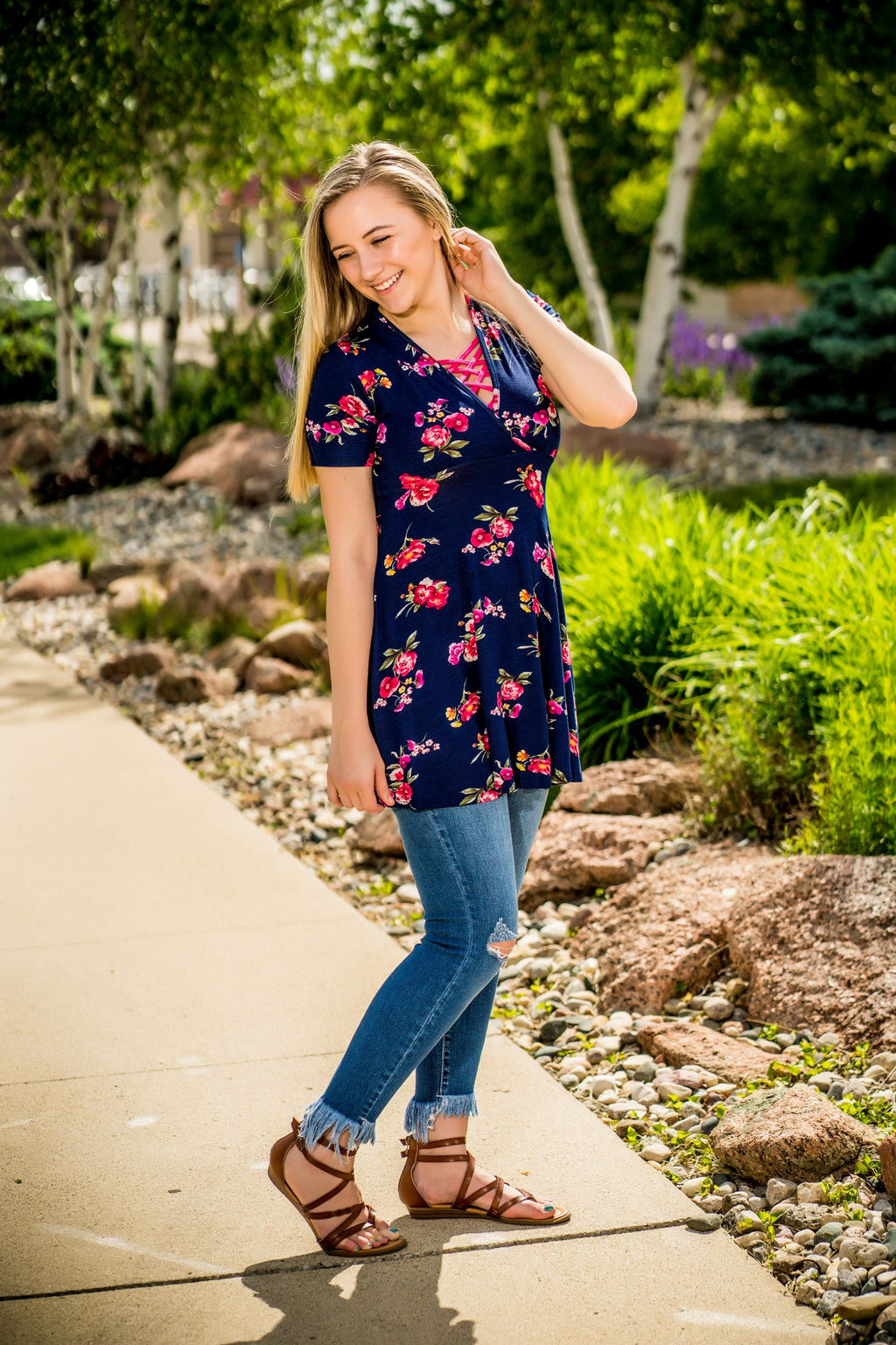 Catch Your Eye Floral Tunic