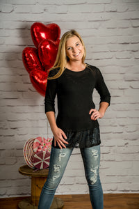 Lace Me Up Tunic Top