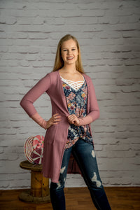 Gonna Love It Cardigan - Dusty Pink