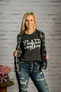 Plaid Everything Graphic Tee