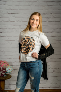 Leopard Basketball Graphic Tee - FINAL SALE CLEARANCE