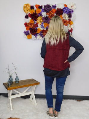 Cozy Up Sleeveless Fuzzy Zip Up Vest - final sale