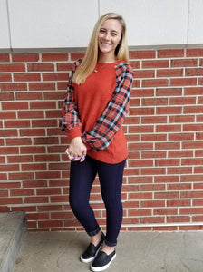 Perfect Pop of Plaid Sweater