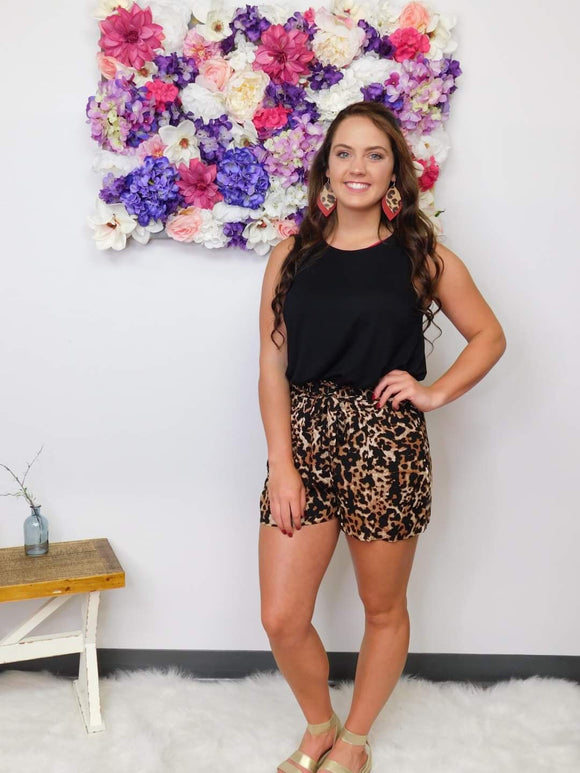 Crazy Summer Days Leopard Shorts