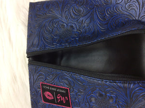 """Indigo Night"" Makeup Junkie Bag - Small"